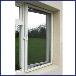 Aluminium Hinged Window Screen - Commercial - Made To Measure - White image