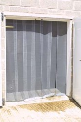 Insect Panel Curtain - Commercial - Stainless Steel - Made to Measure - The Flyscreen Company Ltd