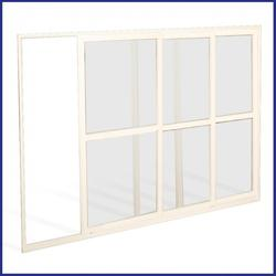Sliding Window Screen - Commercial - Made To Measure 3 Panes - White - The Flyscreen Company Ltd