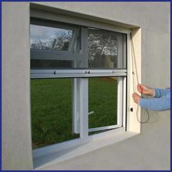 Face or reveal fits onto window frame, sub frame, the wall outside the reveal or within the window aperture.  If your window opens out the screen will be fitted on the inside and vice versa. The mesh screen is opterated by a chain on either the left or right s...