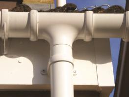 Half Round 112-68mm Rainwater System by FloPlast Ltd