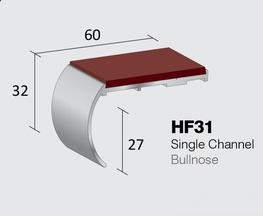 Aluminium Stair Nosings: Heavy Duty Gauge  Single Channel Bullnose  Internal drop: 27mm  Stock Lengths: 2.44m, 2.75m & 3.2m    Also available cut to size, drilled & undrilled  & Pre packed (Secret Fixings) 20 lengths x 1.22...