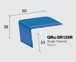 Q Range PVCu Slenderline Gauge Nosing  Single Channel - Bullnose  Internal drop: 33mm  Stock Lengths: 2.44m, 2.75m & 3.2m    Also available cut to size, drilled & undrilled  & Pre packed (Secret Fixings) 20 lengths x 1.22m...