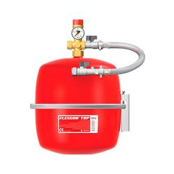 The Vesselpak is intended for use on sealed heating and chilled systems. The vessel is comprised of a high strength steel shell and butyl rubber diaphragm. Same as a standard Flexcon vessel but with a mounting kit that consist a safety relief valve and braided...