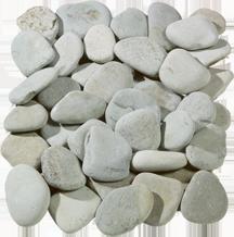 Flat Green Pebbles image