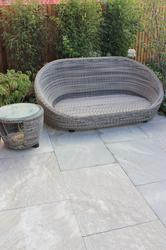 Ebony Cloud paving has beautiful tones of grey-greens and blacks along with some vivid light, almost white coloured detail which gives a stunning cloud effect.  This attractive paving is a quartz-rich schist with included mica' resulting in a strong and d...