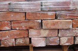 A batch of handmade bricks, in larger dimensions. Good orange to almost buff colour mix with loads of character. Slight variance in size brick to brick, due to the handmade nature....