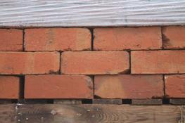 A large batch of red/orange bricks, reclaimed from Selly Oak Hospital. These bricks have a extremely clean and relatively smooth finish, with a nice colour variation due to being sanblasted here on site. Palletized, dressed and ready to go...