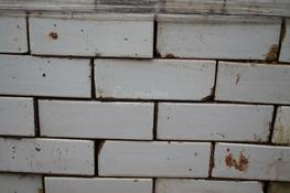 "Two batches of white glazed bricks, in good reclaimed condition. Matching Bullnose bricks available. (These bricks are available in both Header and Stretcher form) The glazed bricks are a reclaimed product and may have chips etc Dimensions: 3""- 3 1/8"" x 9"" (76..."