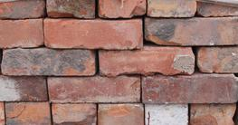 Orange Reclaimed Wirecut bricks - D.R.I.  A huge, nice quality batch of Orange wirecut bricks, reclaimed from Derby Royal Infirmary....