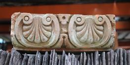"A small batch of an unusual corbel with a scroll and shell design.   Dimensions: 9 1/4"" x 4 1/2"" x 3""..."