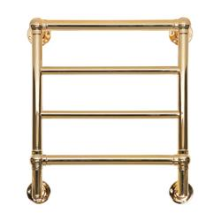 Kora 4 Polished Brass Electric Towel Radiator image
