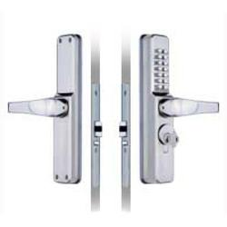 A medium/heavy duty mechanical digital door lock; designed for narrow style aluminium framed doors and retro fitted to Adams Rite or similar style mortice deadlatches (not supplied).  Suitable for use in offices, schools/colleges, hospitals, warehouses, care h...