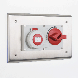 Flush Mounted Pharma Interlocked Switch & Socket Enclosure image