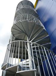 Easy to build, hard wearing and adaptable to almost any height and type of building, Spiral Fire Escapes from Albion Design meets all UK Building and Fire Regulations. Albion Fire Escapes are regularly installed in factories, schools, shops, offices and hotels...