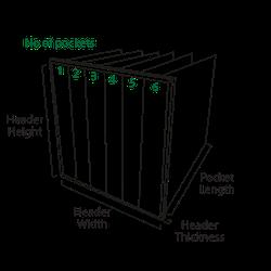 HVAC High Performance Bag Filter   M5, M6, F7, F8 and F9 EN779:2012 - Airclean Ltd