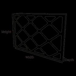 Pleated Panel Air Filter   Lattice   G4 to EN779:2012 - Airclean Ltd