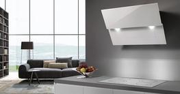 Vivaldi Extra White Glass Wall Hood image