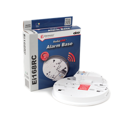 The Ei168RC RadioLINK Base is an easi-fit mounting plate with built-in RadioLINK. It provides wireless interconnect between alarms, i.e. when one alarm is triggered, all alarms in the system sound. It is mains powered unit with a rechargeable lithium cell back...