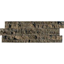 Stone Sah Brown Shading = V2 – Slight Variation  A Brown Rectangular Split-Face Natural Stone Mosaic Suitable for Internal/Indoor Walls Only....