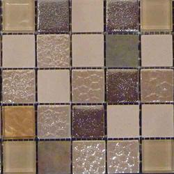 Eco Mysticglass Sinai Shading = V2 – Slight Variation  A Beige/Taupe Recycled Eco Glass Mosaic Mix Suitable for Internal/Indoor and External/Outdoor Floors and Walls....