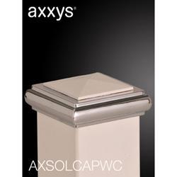 Axxys Solo Square Cap - White/Chrome image