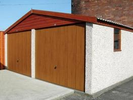 Double Garage with Apex or Pent Roof image