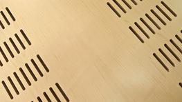 Acoustic grooved panels image