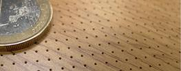 Microperforated acoustic wood panel image