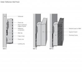 Reflective Acoustical Wall Panel By Decoustics Saint Gobain