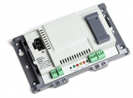 The DALI DMX controller seamlessly controls DMX fixtures and devices in response to signals received across the Lon network or via RS232 or RS485 formats. The module enables colour changing and other effects to be activated in response to time-schedule command...