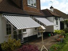 Traditional victorian patio awnings image