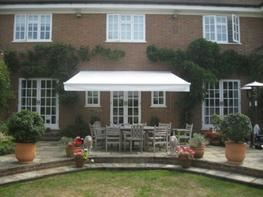Classic retractable value patio awning image