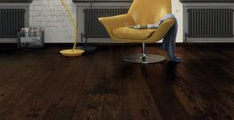 Oxford Engineered Brushed and Matt Lacquered Espresso Oak Flooring image