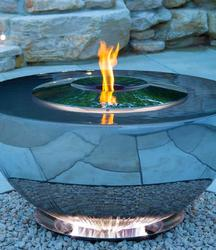 An evolution of the award winning stainless steel water feature the Chalice, the Fire Chalice is a sophisticated centrepiece marrying the classical elements of fire and water.  It comprises an outer bowl over which water mesmerizingly circulates and an inner s...