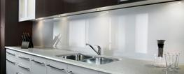 Zenolite® HC is an ideal material for making kitchen splashbacks. The splashbacks made of Zenolite HC are sleek and modern super high gloss panels that will transform the walls of any kitchen in a few hours.  This product comes in high gloss decorative panels...