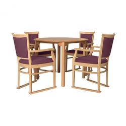 Ardenne round dining set in plum image