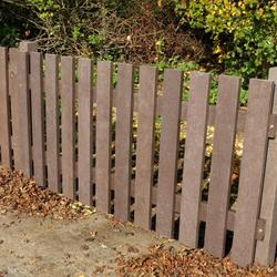 Heavy Duty Picket Fencing Panel 60mm x 1000mm x 1800mm Brown image