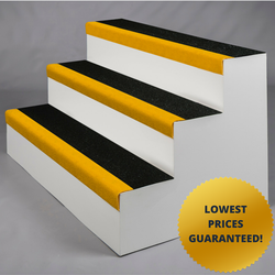 SlipGrip Standard GRP Anti Slip Stair Tread Covers are an affordable and versatile solution to your slippery stairs. Depth: 345mm, Nosing: 55mm...