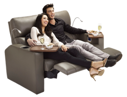 The Verona is a fully reclining cinema chair designed for the maximum in comfort and style. 