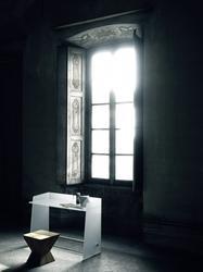 Pirandello small glass desk image