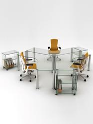Poise Tri Glass Workstation image
