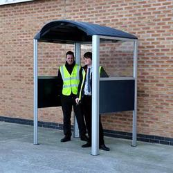 Ideal for outside small businesses and workplaces, the Modus Smoking Shelter shields employees from the weather when smoking. Combined with signage and a cigarette bin a tidy smoking area can be created....