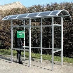 The Carleton 50 outdoor smoking shelter is a low maintenance and cost–effective standing smokers shelter, with options of curved, pitched or flat roofs or as a cantilever-style shelter. Fully complies with UK smoke–free legislation....