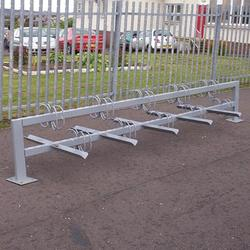 The Bi–Stander collection of cycle stands and bike racks offers a range of economically effective cycle storage solutions, ideal for schools and offices. Our Ground-Fixed Double-Sided cycle stand is perfect for a larger number of bike as it features 2 sides ...
