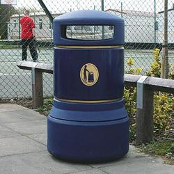 The large 100 litre capacity makes the Plaza plastic litter bin the ideal waste solution for streets, parks and venues. The keyless locking system allows the bin to be secure without a key....