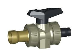 PROGEF StandardShipbuilding ball valve type 547With threaded socket Rp brass and iFIT connection image