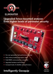 Eliminator: fully compatible and high performance perimeter detection analyser  Product specifications  • Next generation high performance analyser • Uses industry-leading Interceptor cable • Minimum of false alarms • RS-485 compatible with GeoLo...