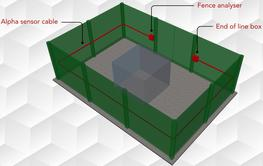 GeoZone: externally-mounted fence intruder detection system  Product specifications  • Used on chain-link and semi-rigid fences  • Easy to install and maintain  • Kits available for 100 – 200 meter systems  • Far superior to coaxial based systems  Ge...