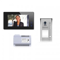 One-Way Video Entry Kit in Black/White - Touchscreen Monitor image